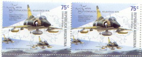 Aviones Dagger argentinos durante la guerra de Malvinas