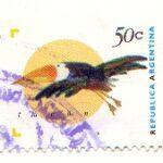 Sello Postal Ordinario con Viñeta de un Tucán - 1995 a 1999