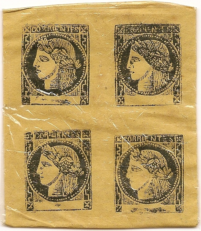 Yellow Corrientes Province Stamps