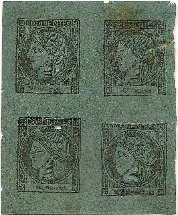 Blue Corrientes Province Stamps