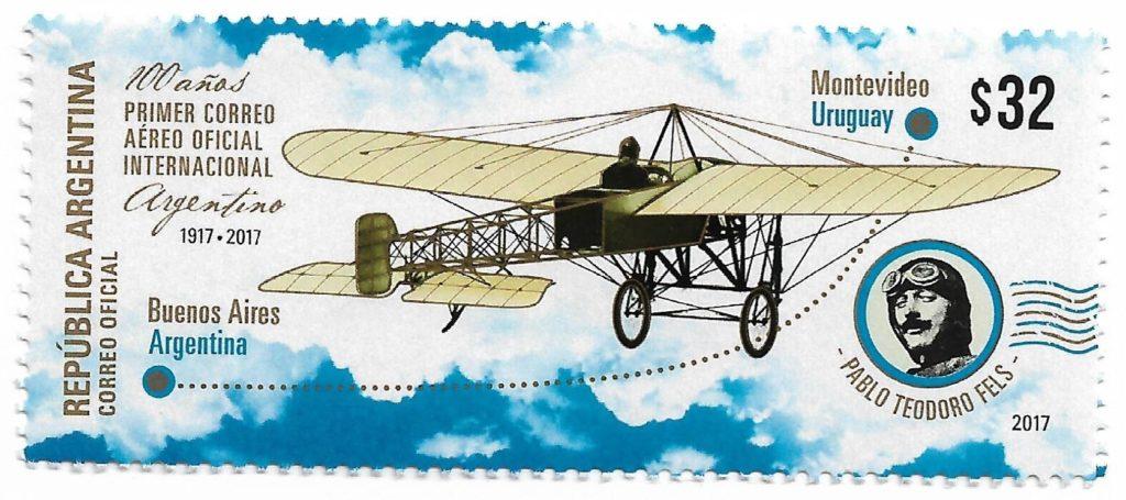 Primer Correo Aéreo Oficial Internacional 1917
