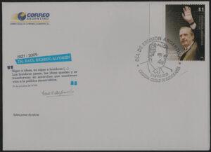 Sobre Primer Día 9 de Mayo de 2009 - Año del Fallecimiento de Raúl Alfonsín