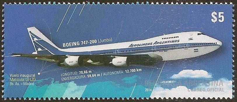Vuelo inaugural Buenos Aires - Madrid de Boeing 747-200 (Jumbo) de Aerolíneas Argentinas