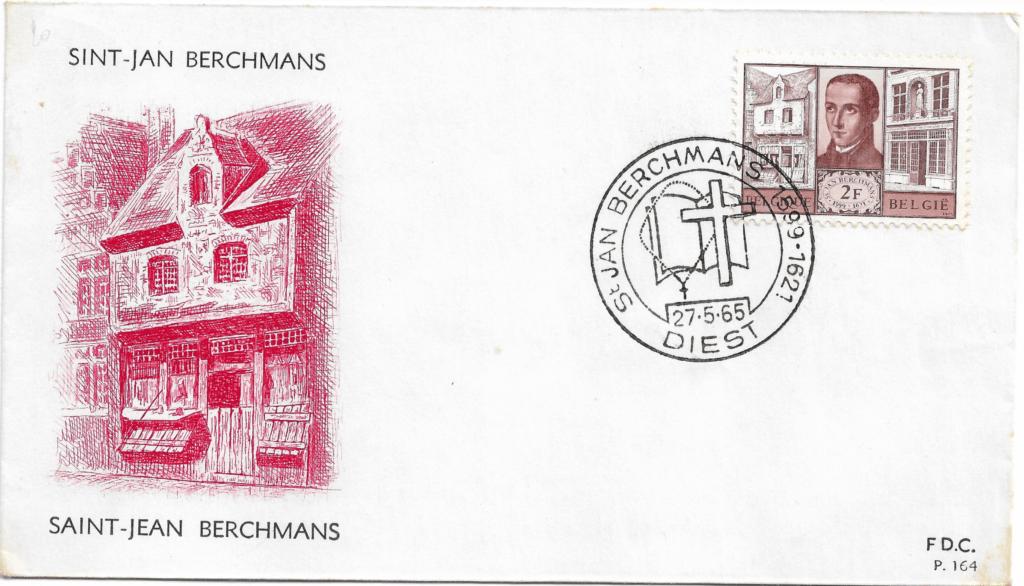 Sobre Primer Día de Emisión Bélgica - 1965 - Iglesia de Saint Jean Berchmans