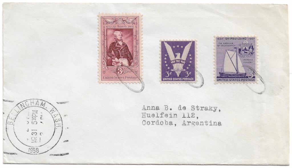 Carta Circulada desde Estados Unidos