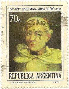 Fray Justo Santa Maria de Oro 1772-1834
