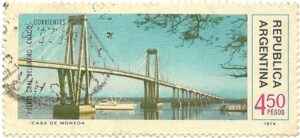 Puente Gral Belgrano Chaco - Corrientes - Año 1974