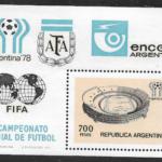 Mundial de Fútbol 1978 - Argentina Hoja Block con Emblemas y Logos de AFA FIFA