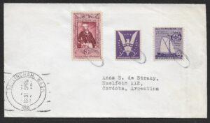 Carta Circulada hacia Córdoba en 1958 para Anna B. de Straky desde Estados Unidos
